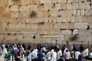 Västra muren judar - fri bild